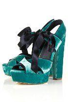 Topshop Green Velvet Platform. Chic like Dorothy!
