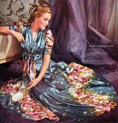 1939  Pacific Satin Magic  - now that is a dressing gown!