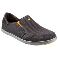 OluKai Nohea Mesh Slip-On Shoes for Men - Dark Shadow/Dark Shadow - 10.5M
