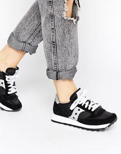 Image 1 of Saucony Jazz Original Black/Silver Sneakers