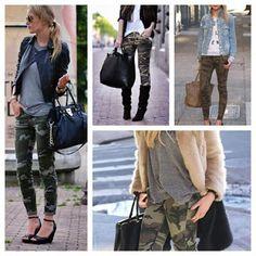 I gotta admit, I'm kinda lovin these. Camo Skinnies, Camo Skinny Jeans, Camo Jeans, Winter Fashion Casual, Autumn Winter Fashion, Military Chic, Style Ideas, Style Inspiration, Camo Fashion