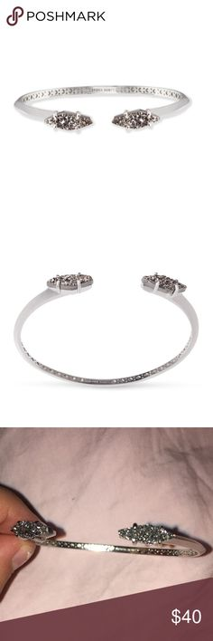 NWOT Kendra scott Bianca cuff - silver and Friday New without tags Bianca cuff in silver. Beautiful bangle. I just never reach for the silver. Retails in store for $60 still Kendra Scott Jewelry Bracelets