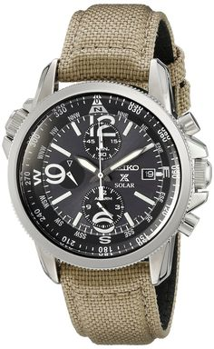 Amazon.com: Seiko SSC293P1 Prospex Men's Solar Military Alarm Chronograph 100m Water Resistant,SSC293: Seiko: Watches