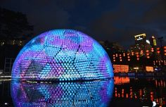 Hong Kong creates lantern from 7,000 recycled bottles