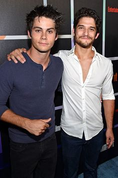 Dylan O'Brien and Tyler Posey./ Stiles and Scott from teen wolf