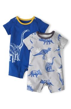 Mini Boden 'Summer' Romper (Set of 2) (Baby Boys) available at #Nordstrom