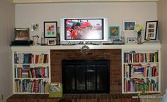 I {Finally} Painted Our Fireplace