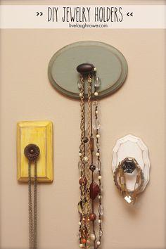 Fabulous DIY Jewelry Holders with livelaughrowe.com