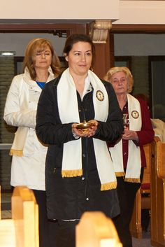 New 2015 CWL members (sisters) bringing up the offeratory gifts