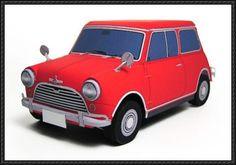Austin/Morris Mini Cooper S Paper Car Free Paper Model Download