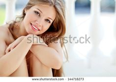 Portrait Of Young Smiling Beautiful Woman - stock photo