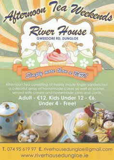 Afternoon Tea - Riverhouse Finger Sandwiches, River House, Homemade Cakes, Hostel, B & B, Afternoon Tea, Scones, Catering, Kids