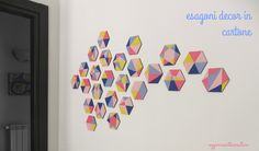 Oggi mi sento creativa: Una parete di esagoni decor nei colori dell'anno -...