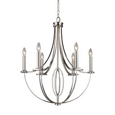 Elk Lighting Dione 6-light Polished Nickel Chandelier