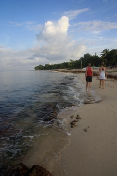 Morning Beach Walking, Cozumel