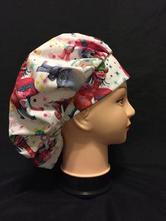 COFFEE /& BEAN BAND Surgical Scrub Hat Cap Bouffant Women Ladies Medical Vet OR