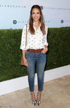 Team VB! Naturally, Jessica - who is worth $340 million according to Forbes - was wearing clothing from Victoria's range for the store