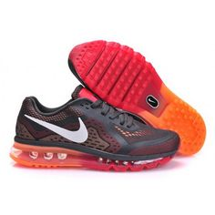 buy online 47a5c 3f6e3 Mens Nike Air Max 2014 Shoes Dark Gray Orange Mens Nike Air, Nike Men,