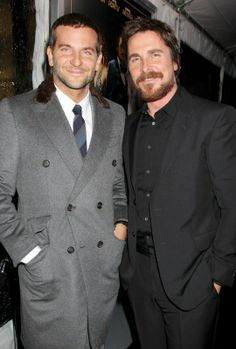 Christian Bale and Bradley Cooper at American Hustle premiere