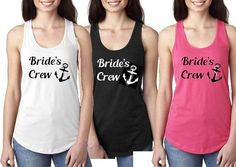 Bride's Crew Tank Tops  Bride Anchor Tank Top  by JessmarDesigns