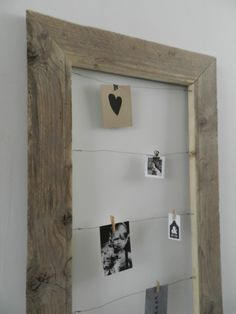 Clever use of an old frame Old Frames, Pallet Art, Inspiration Wall, Deco Design, Cool Rooms, Photo Displays, Decoration, Home Accessories, Picture Frames