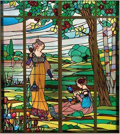 - Panneaux décoratifs.1917. 1- Printemps. 2- été ....