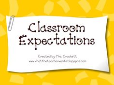 What the Teacher Wants!: 1st day Management - Expectations (powerpoint)