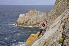 Lead Climbing on Lundy Island, UK.  #Leadclimbing #climbing #rockclimbing #lundy #hattadventures