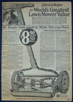 Lawnmower Hoses Sprinklers Lawn Care Supplies Vintage 1926 Montgomery Ward Catalog