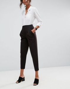 ASOS Mix & Match Highwaist Cigarette Pants Business Professional Attire, Business Attire, Business Casual, Young Professional, Business Fashion, Business Formal, Office Outfits, Casual Outfits, Fashion Outfits
