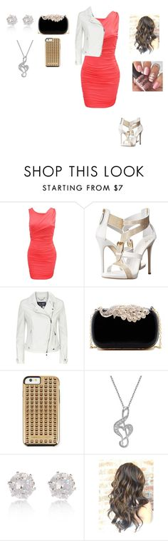 """Sans titre #936"" by harrystylesandliampayne ❤ liked on Polyvore featuring Giuseppe Zanotti, Armani Jeans, Natasha Accessories, Rebecca Minkoff, River Island and INDIE HAIR"