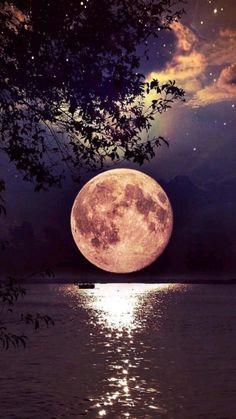 Beautiful Photos Of Nature, Beautiful Moon, Nature Images, Nature Photos, Romantic Nature, Romantic Pictures, Cute Galaxy Wallpaper, Night Sky Wallpaper, Scenery Wallpaper