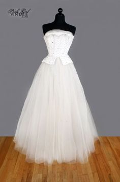 50's tulle rhinestone wedding gown $739