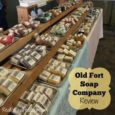 Old Fort Soap Company Review of their all natural soaps, laundry detergent, and lip balm | Real Fit, Real Food Mom