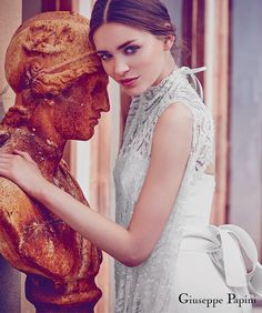 Giuseppe Papini 2017 (viareggio) sleeveless high neck beaded lace wedding dress sv #wedding #bridal #weddingdress #weddinggown #giuseppepapini