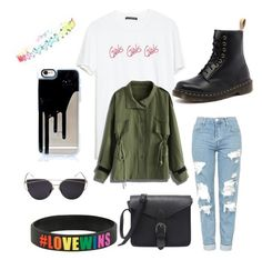 """""""Girls"""" by melissa-193 on Polyvore featuring Chicwish, Dr. Martens und Topshop"""