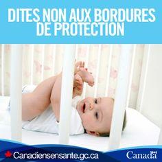 Décorez la chambre de bébé en toute sécurité : http://www.hc-sc.gc.ca/cps-spc/pubs/cons/child-enfant/sleep-coucher-fra.php?utm_source=Pinterest_HCdns&utm_medium=social&utm_content=Dec15_BumperPads_FR&utm_campaign=social_media_13