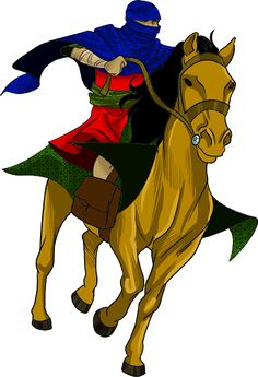 Persian messenger / soldier.  King Ahasuerus quickly agreed to save the Hebrews lives. He made a new law giving them permission to fight back against their enemies. Messengers riding fast horses delivered copies of the law to every province in the kingdom. (Esther 8)