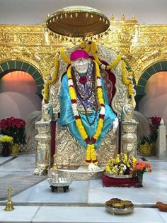 Blissful Darshan of Baba as seen in a Shri Shirdi Sai baba temple today in Flushing, New York