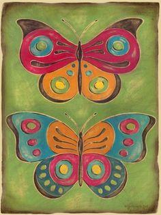 """Folklore Flutter"" kid's wall art by Genevieve Gail Swinford for Oopsy Daisy, Fine Art for Kids $119"