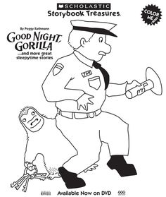 Coloring Book To Go Along With Good Night Gorilla By Peggy
