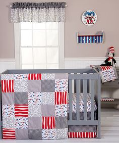 Look at this #zulilyfind! Dr. Seuss Cat & Things Crib Bedding Set #zulilyfinds