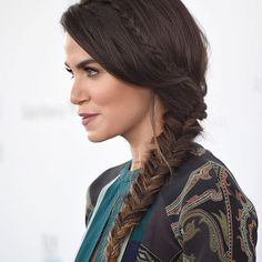 Nikki Reed fishtail braid