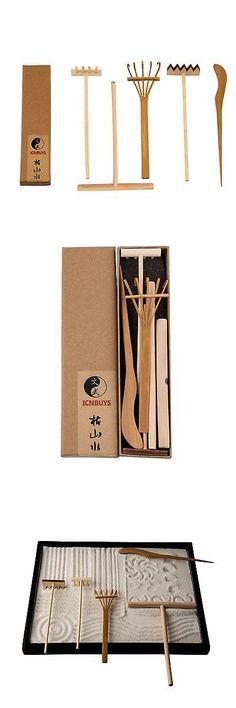 Garden Tool Sets 118867: Icnbuys Zen Garden Swimming Buffalo Set With Free  Rake And Pushing Sand Pen B...  U003e BUY IT NOW ONLY: $35.87 On EBay!