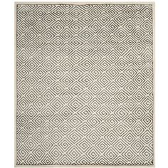 Safavieh Leo Hand Knotted Area Rug In Gray (435 CAD) ❤ liked on Polyvore featuring home, rugs, handmade rugs, safavieh, grey area rug, safavieh area rugs and gray rug