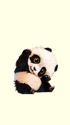 Animals And Pets, Baby Animals, Cute Animals, Animal Drawings, Cool Drawings, Drawing Animals, Panda Lindo, Cute Art, Polar Bear