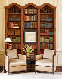 Stack books horizontally and vertically for an appealing visual effect - Traditional Home® / Design: Frank Ponterio