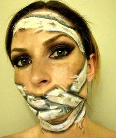Mummy makeup Mummy Makeup, Zombie Makeup, Halloween Makeup, Halloween Ideas, Mummy Costumes, Costume Ideas, Halloween Costumes, Makeup Ideas, Tattoos