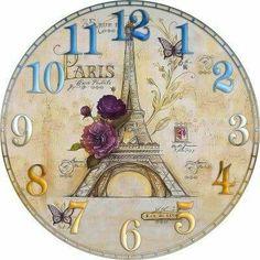 Napkin Decoupage, Decoupage Vintage, Decoupage Paper, Clock Craft, Diy Clock, Online Clock, Clock Face Printable, Shabby Chic Clock, Freebies