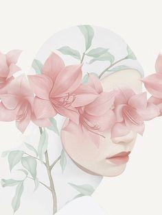 this isn't happiness™ (Flora and fauna, Hsiao-Ron Cheng), Peteski, Winx Club Art Anime, Anime Art Girl, Cartoon Kunst, Cartoon Art, Moslem, Hijab Drawing, Flora Und Fauna, Islamic Cartoon, Anime Muslim